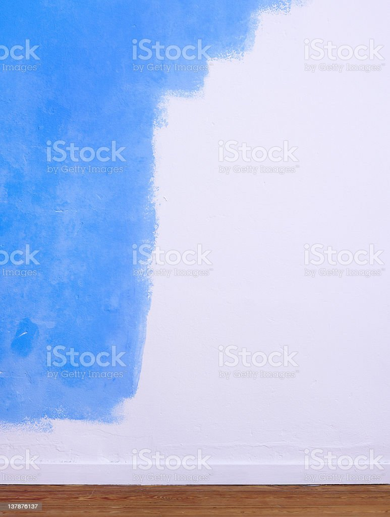 Partially painted wall royalty-free stock photo