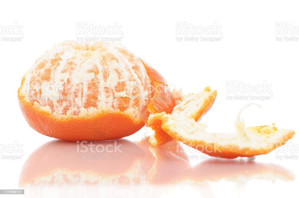 Partially Peeled Tangerine royalty-free stock photo