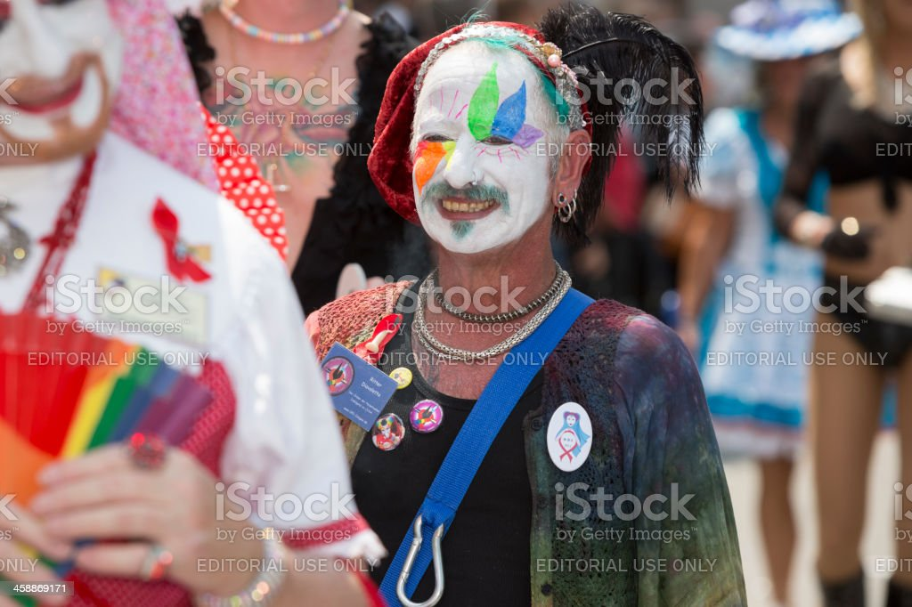 Participant of Christopher Street Day, Munich, Germany stock photo