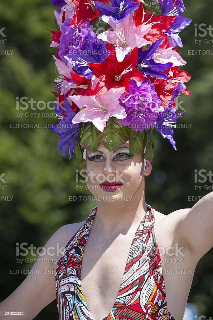 Participant of Christopher Street Day, Munich, Germany royalty-free stock photo