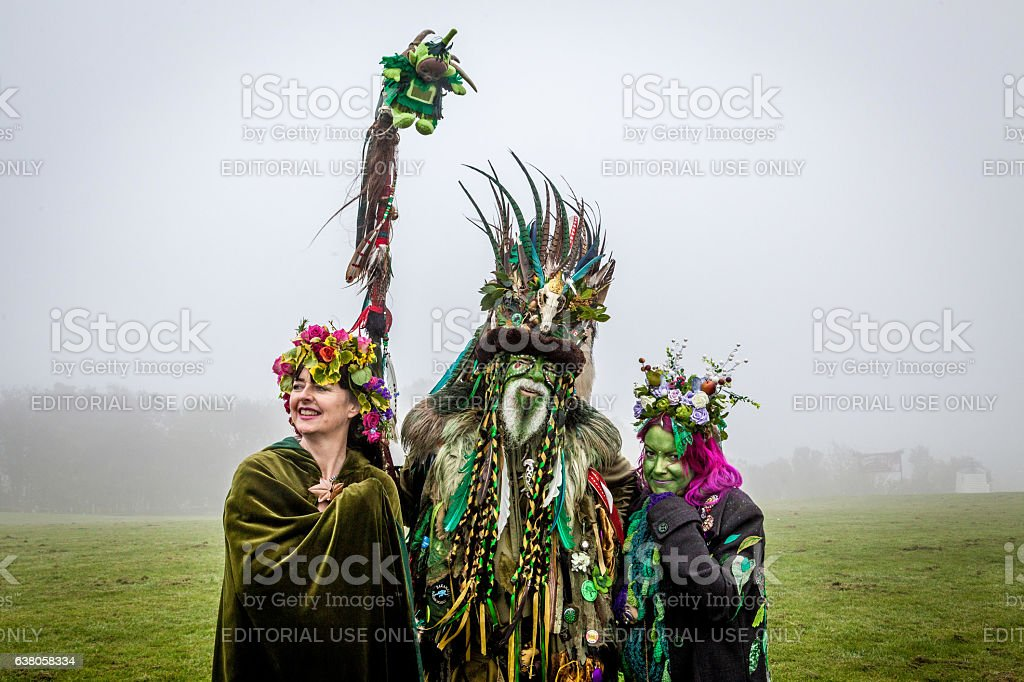 Participants at Hastings' annual Jack-in-the-Green Festival, May 2016 stock photo