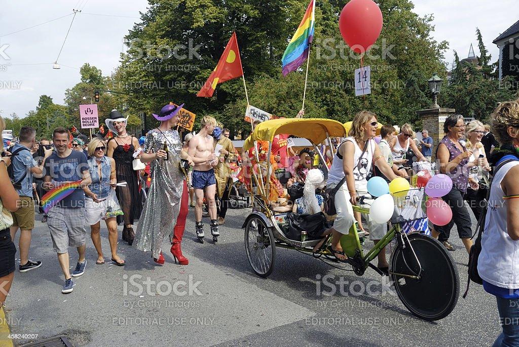 Participants in gay pride parade 2012 Copenhagen royalty-free stock photo