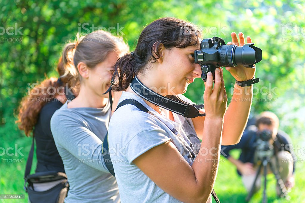 Participants in Photography Course stock photo