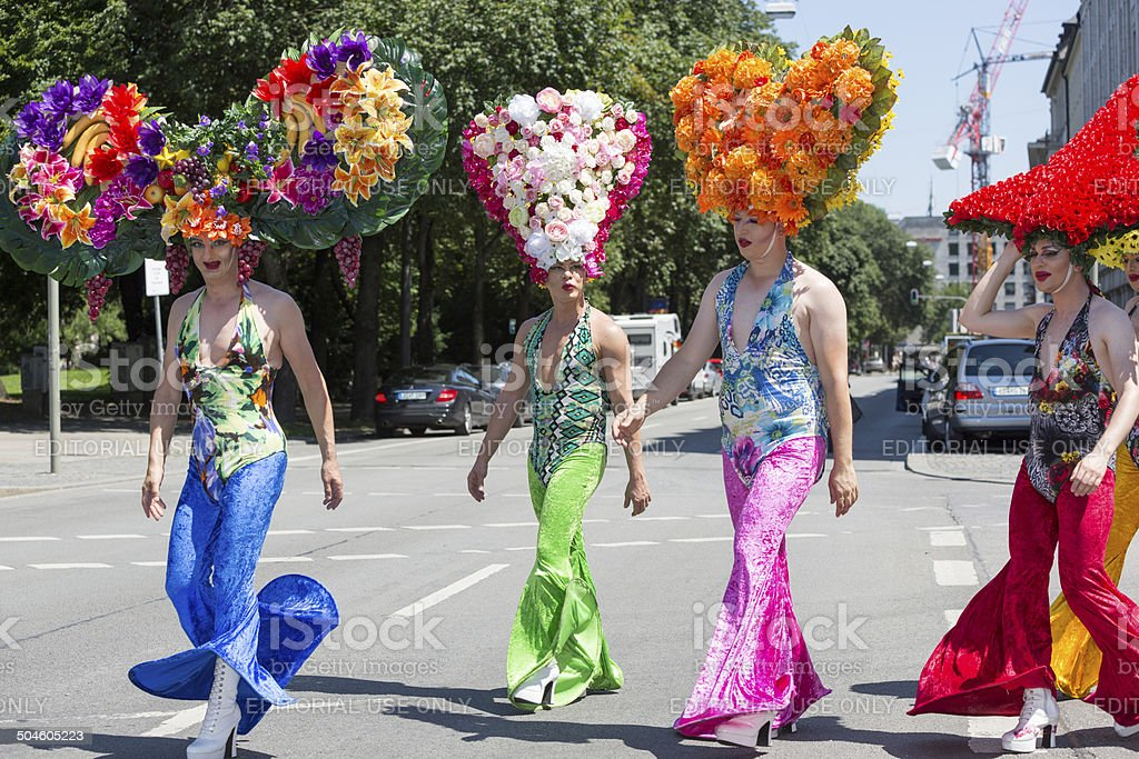 Participants of Christopher Street Day, Munich, Germany stock photo