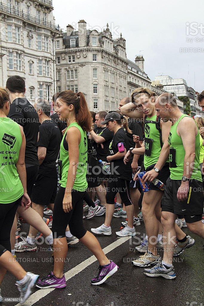 Participants of the British 10k Run London 2012 royalty-free stock photo