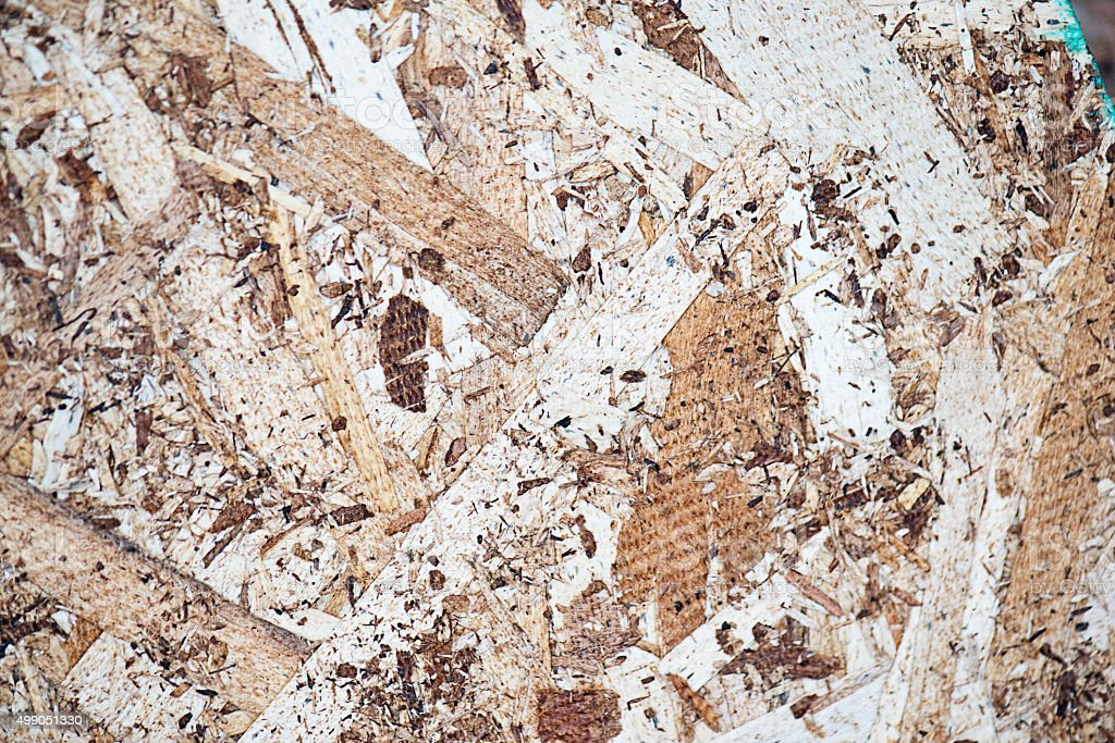 OSB Particle Board or Chipboard stock photo