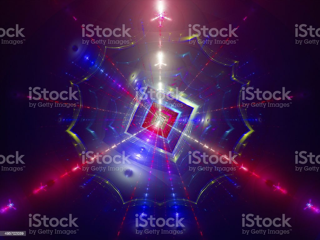 Particle collision, fission, science background royalty-free stock photo