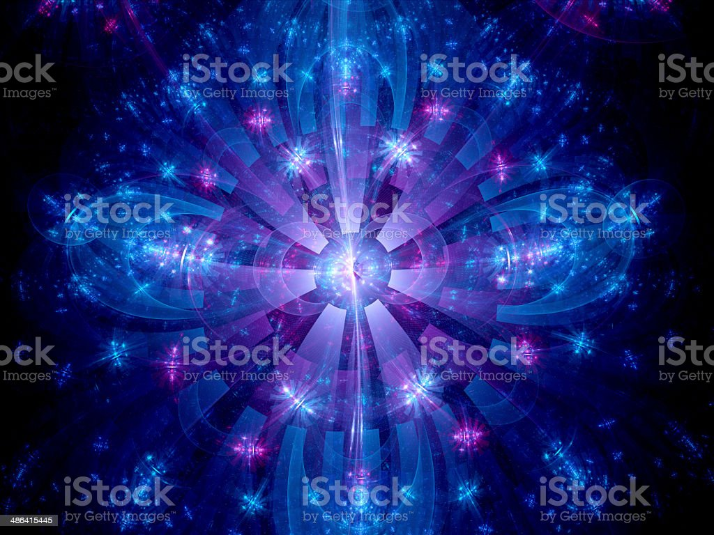 Particle collision fractal royalty-free stock photo