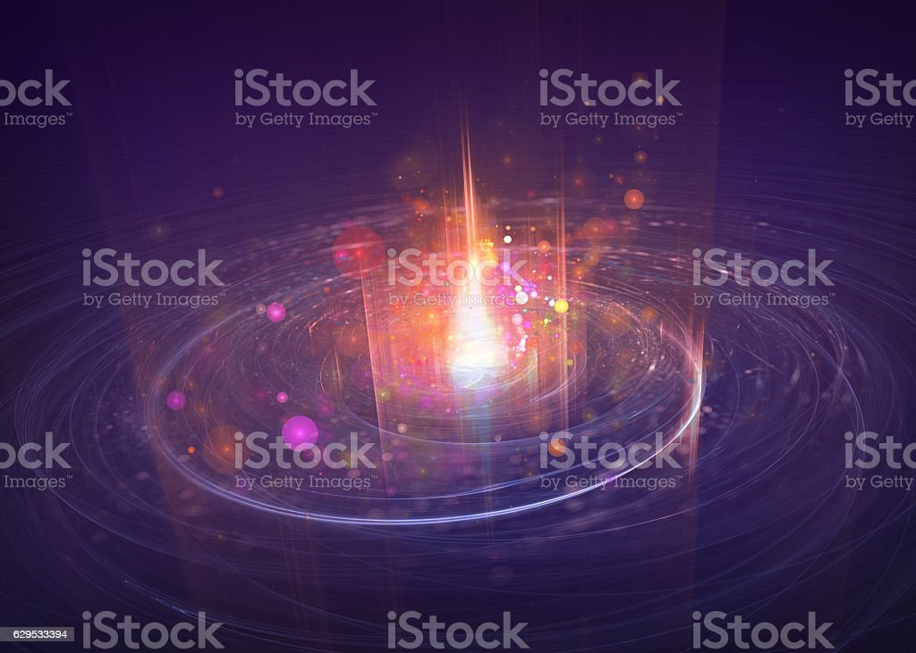 particle motion, scientific and technological background vector art illustration