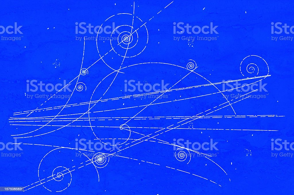 Particle movement in a Bubble Chamber stock photo