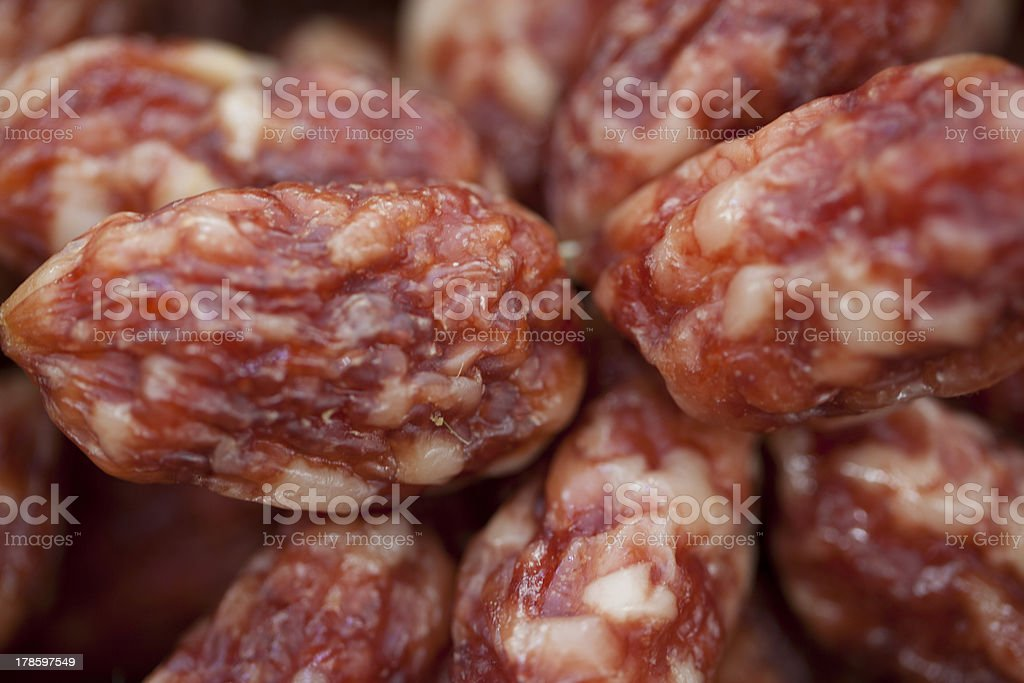 Particle sausage for sale royalty-free stock photo