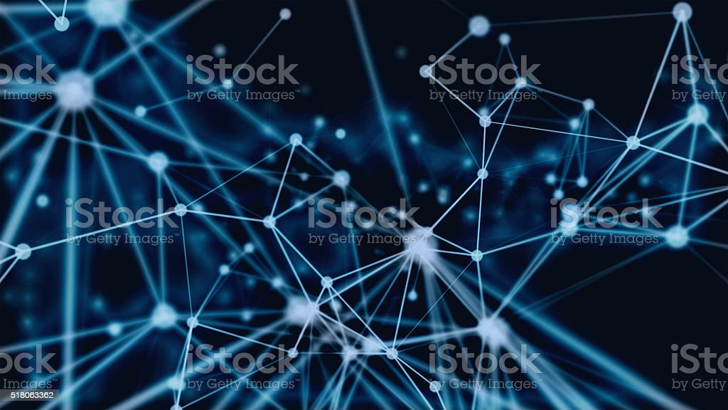 3D particles connection stock photo