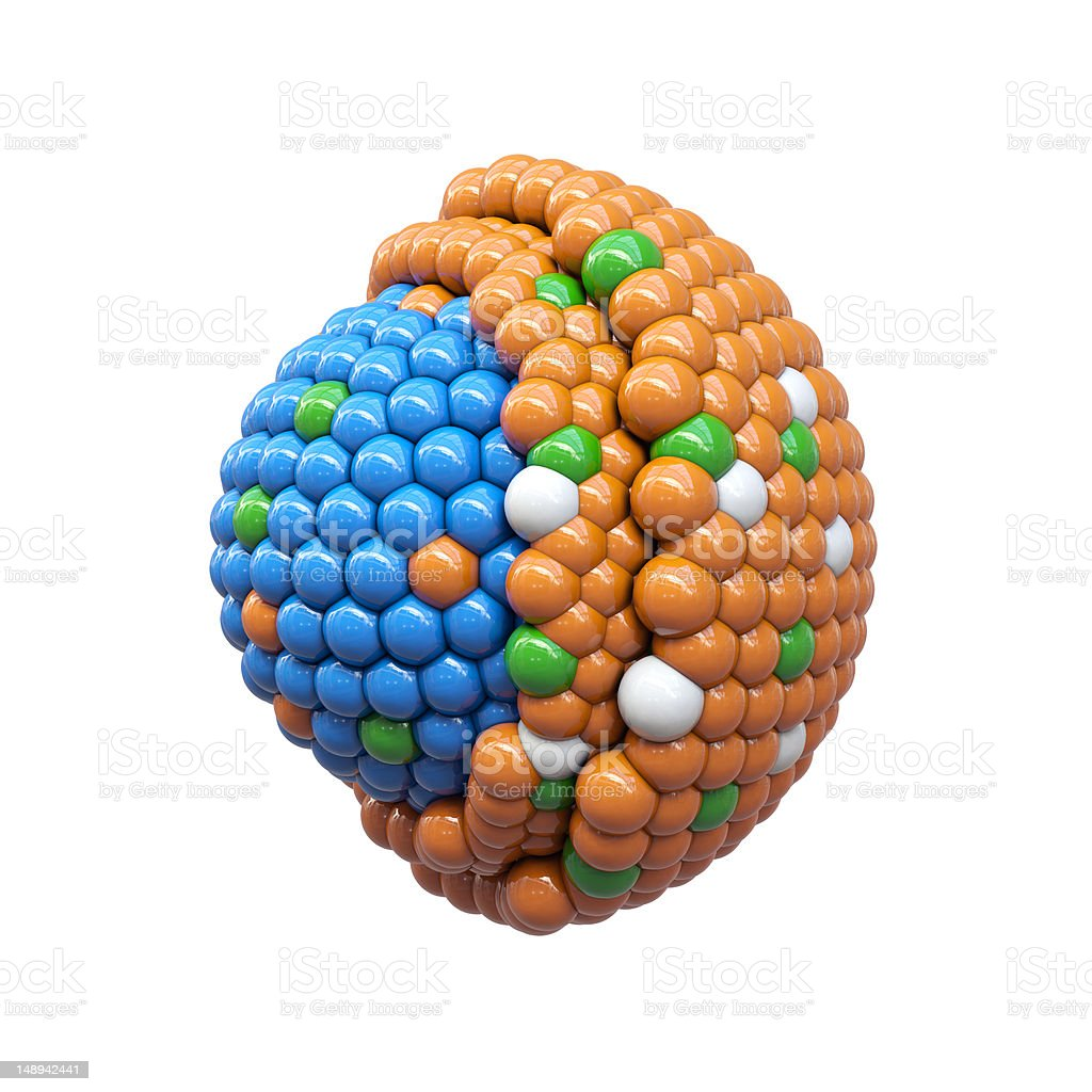 Particles cross section royalty-free stock photo