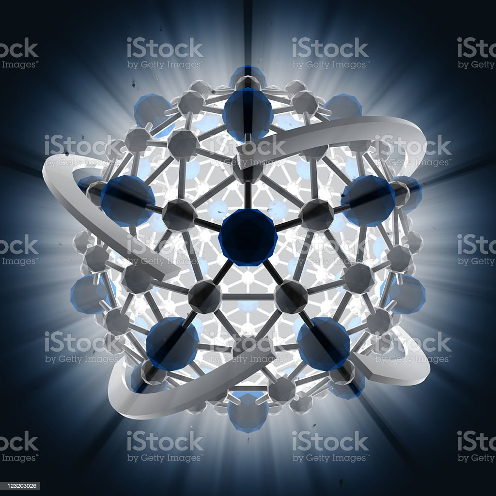 3D particles forming a cluster royalty-free stock photo