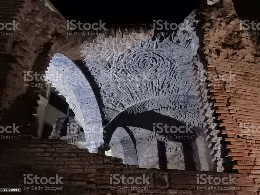 Particolare delle terme romane stock photo