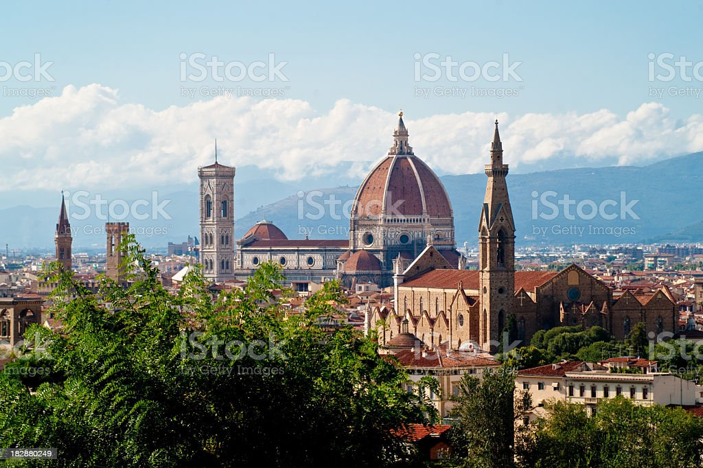 Particular view of Florence stock photo