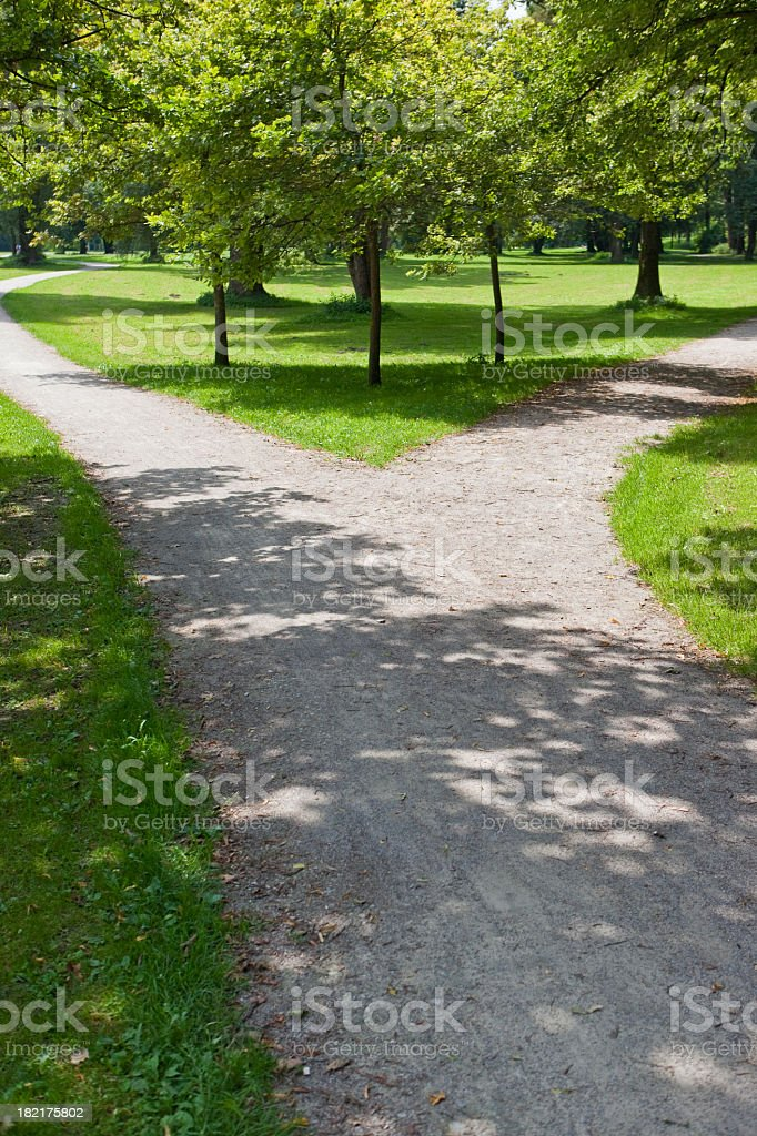 Parting of the ways - make a decision (XXXL) royalty-free stock photo