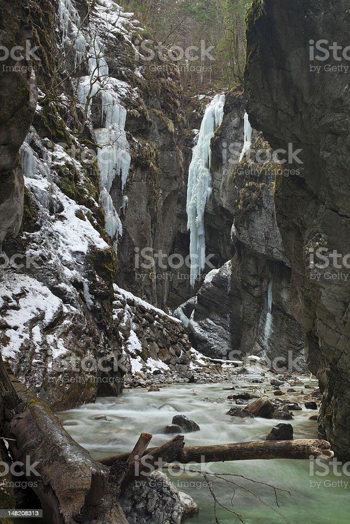 Partnach Gorge, Garmisch, Germany stock photo