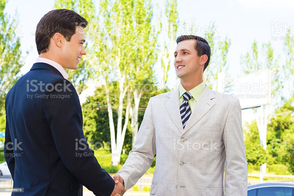 Partner shaking hands royalty-free stock photo