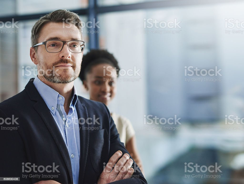 Partnered to make their company's vision a reality stock photo