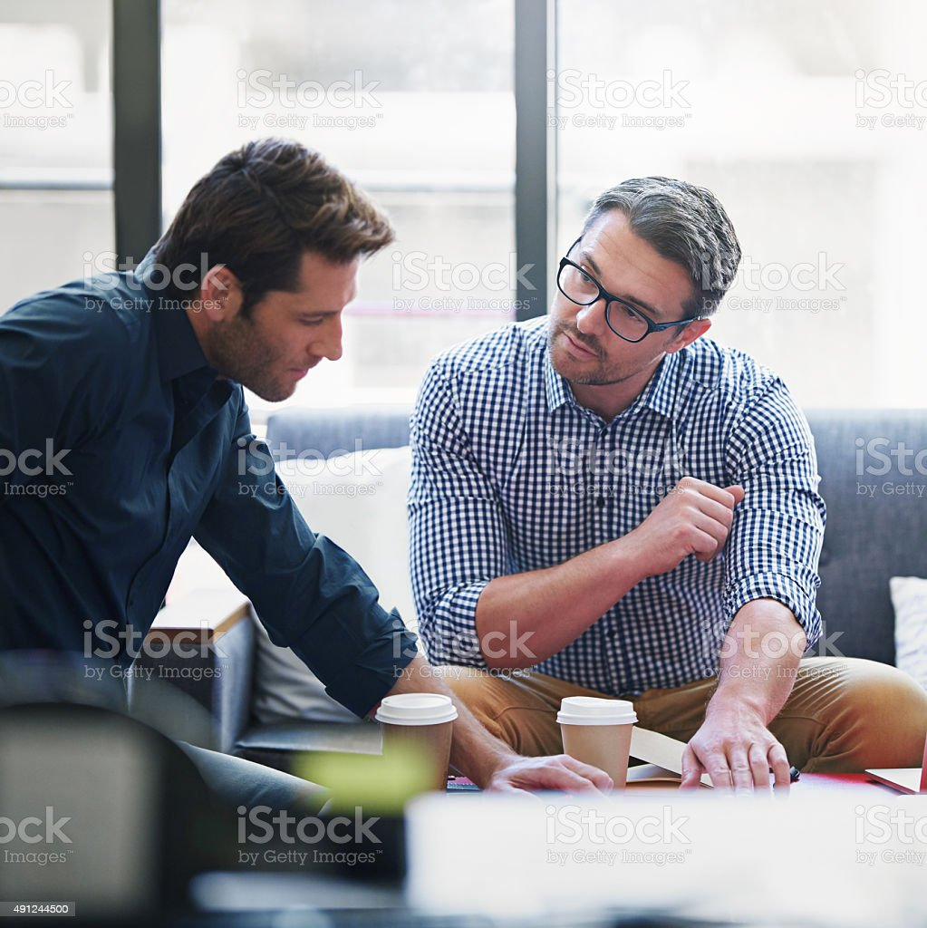 Partnering up on the project stock photo