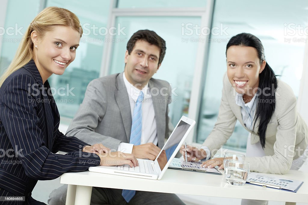 Partners at work royalty-free stock photo