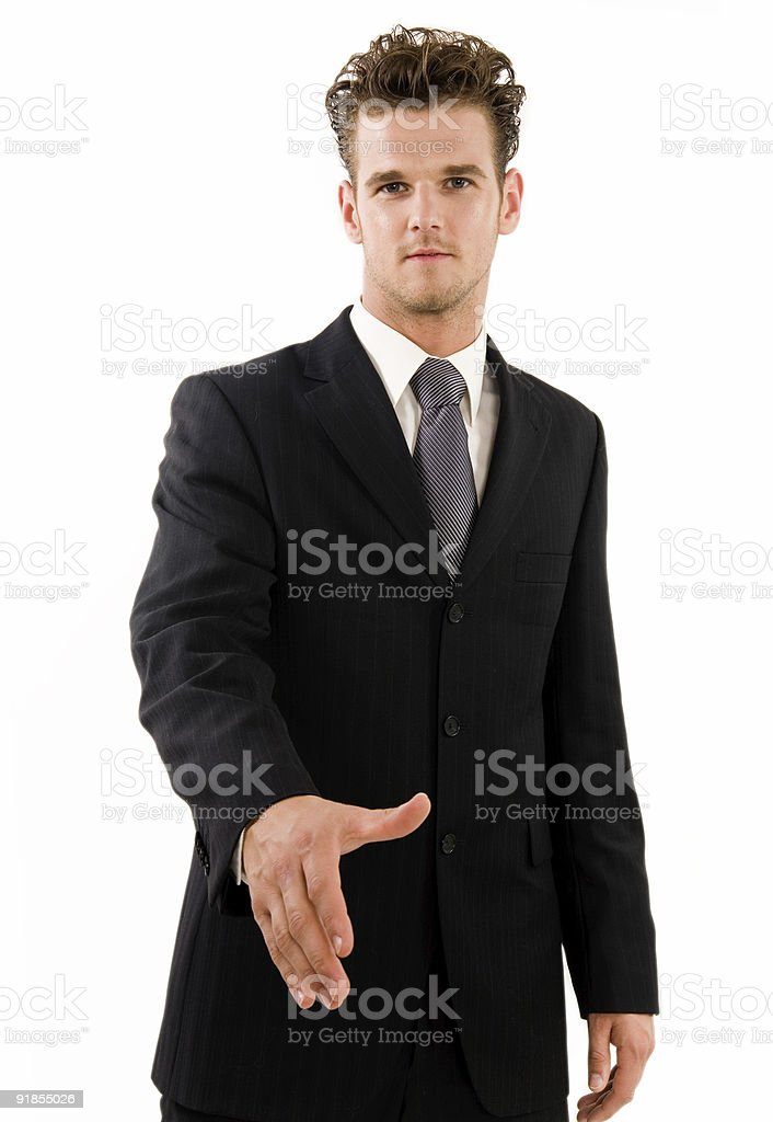 Partner's Hand royalty-free stock photo