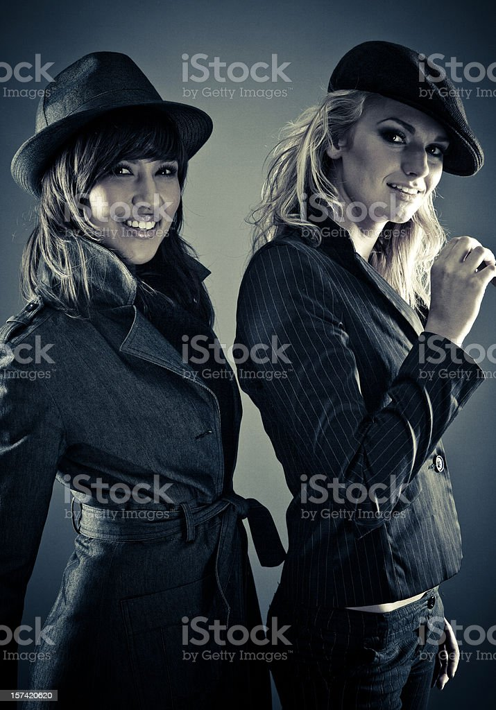 partners in crime stock photo