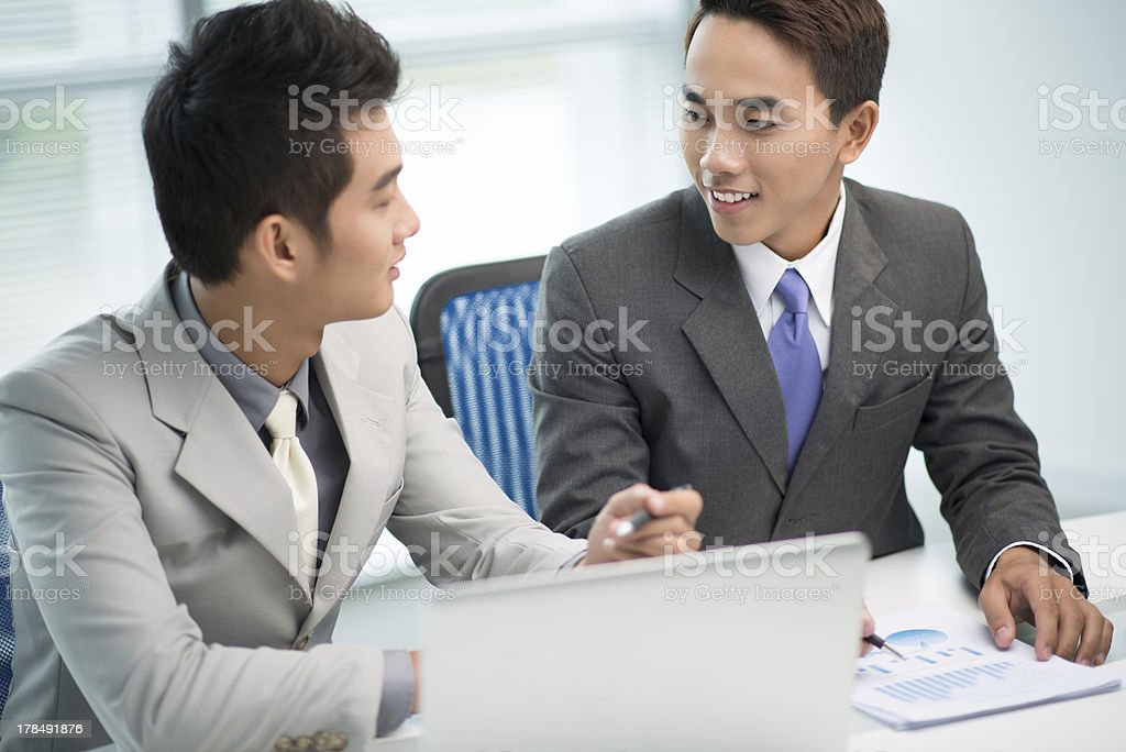 Partners in rapport royalty-free stock photo