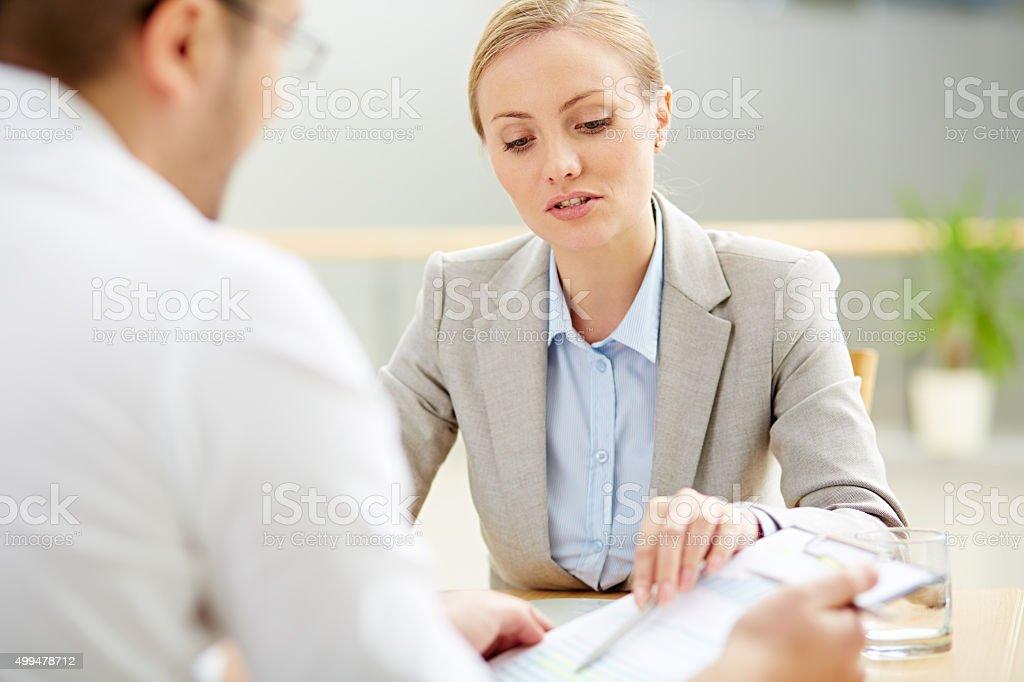 Partners meeting stock photo