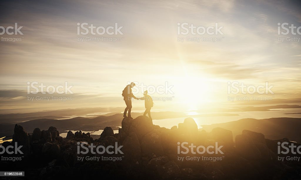 Partners through the journey of life stock photo