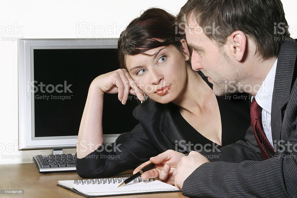 Partners working royalty-free stock photo