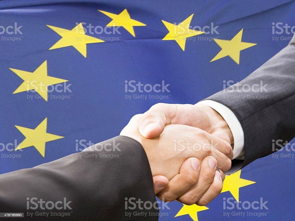 Partnership and  politics concept stock photo