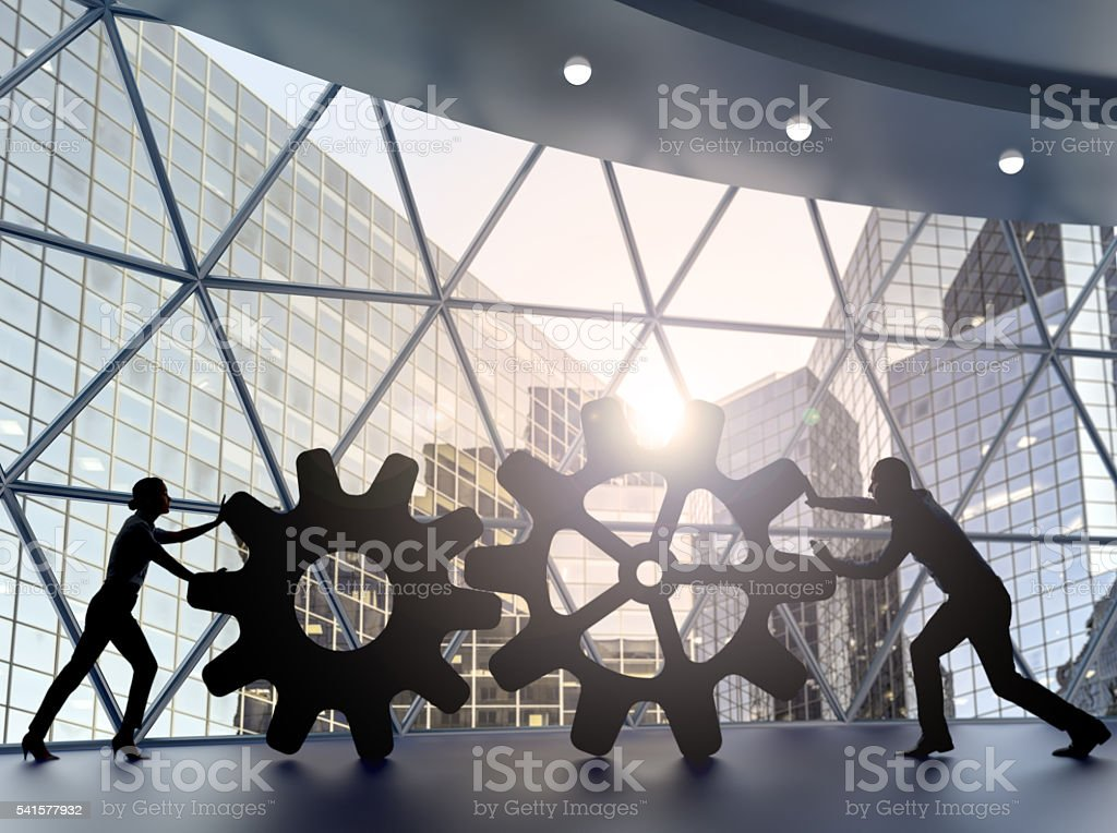 Partnership and temwork concept stock photo