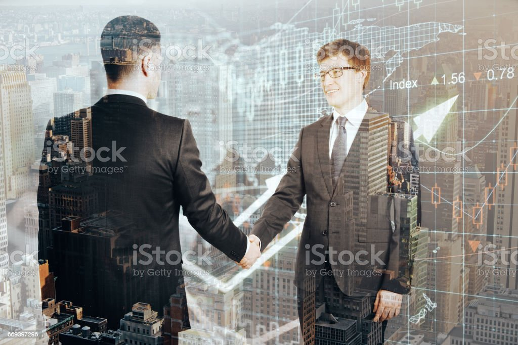 Partnership concept stock photo