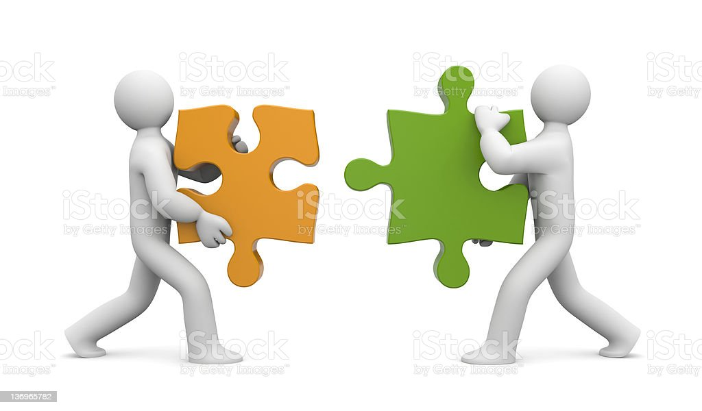 Partnership metaphor royalty-free stock photo