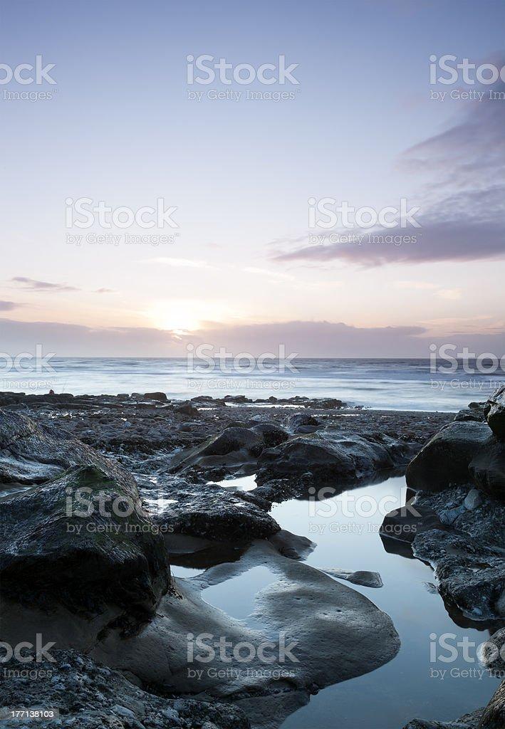 Parton Beach Sunset royalty-free stock photo