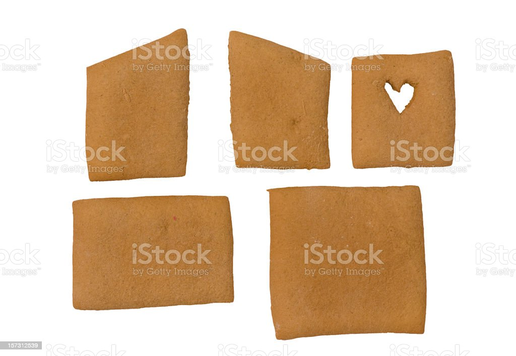 Parts for a gingerbread house royalty-free stock photo