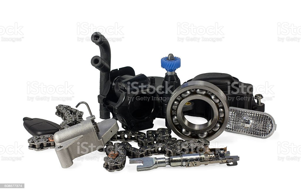 Parts for cars. stock photo