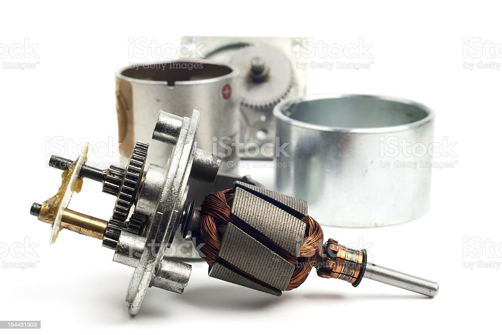 Parts of electric motor royalty-free stock photo