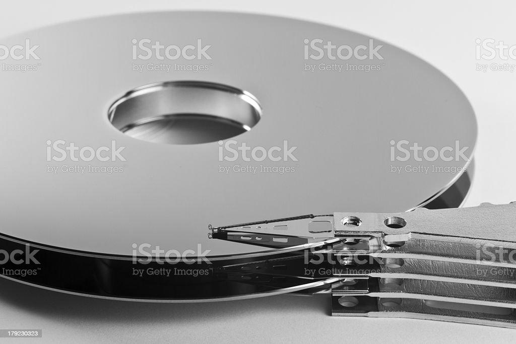 parts of hard disk drive royalty-free stock photo