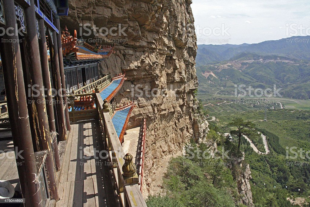 Parts of  Heng Shan Taoist complex in North China stock photo