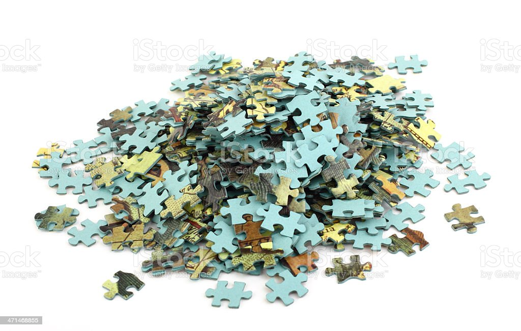 Parts of puzzle stock photo