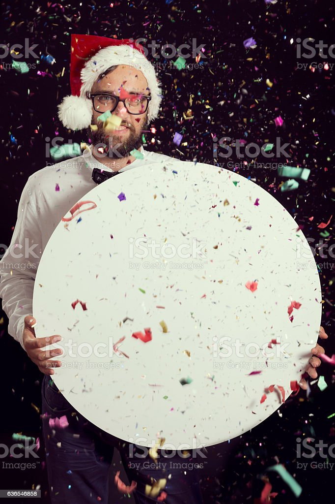 Party announcement stock photo