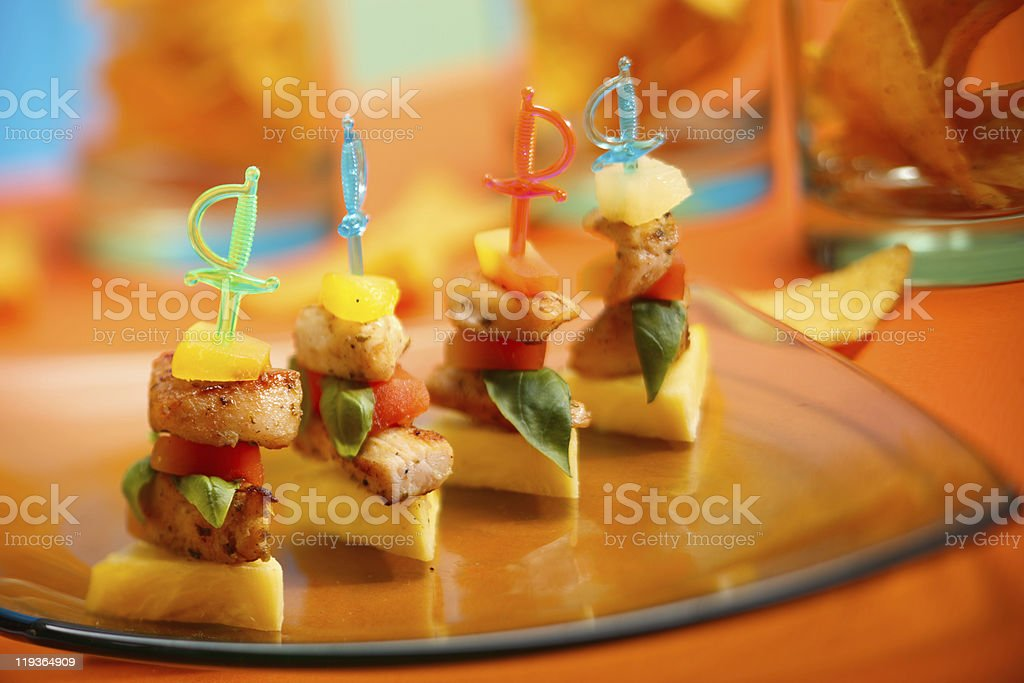 Party appetizer on platter royalty-free stock photo