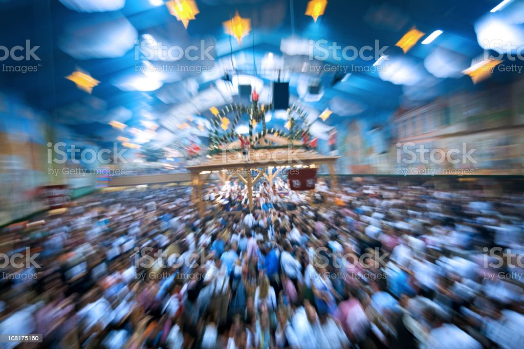 party at the octoberfest stock photo