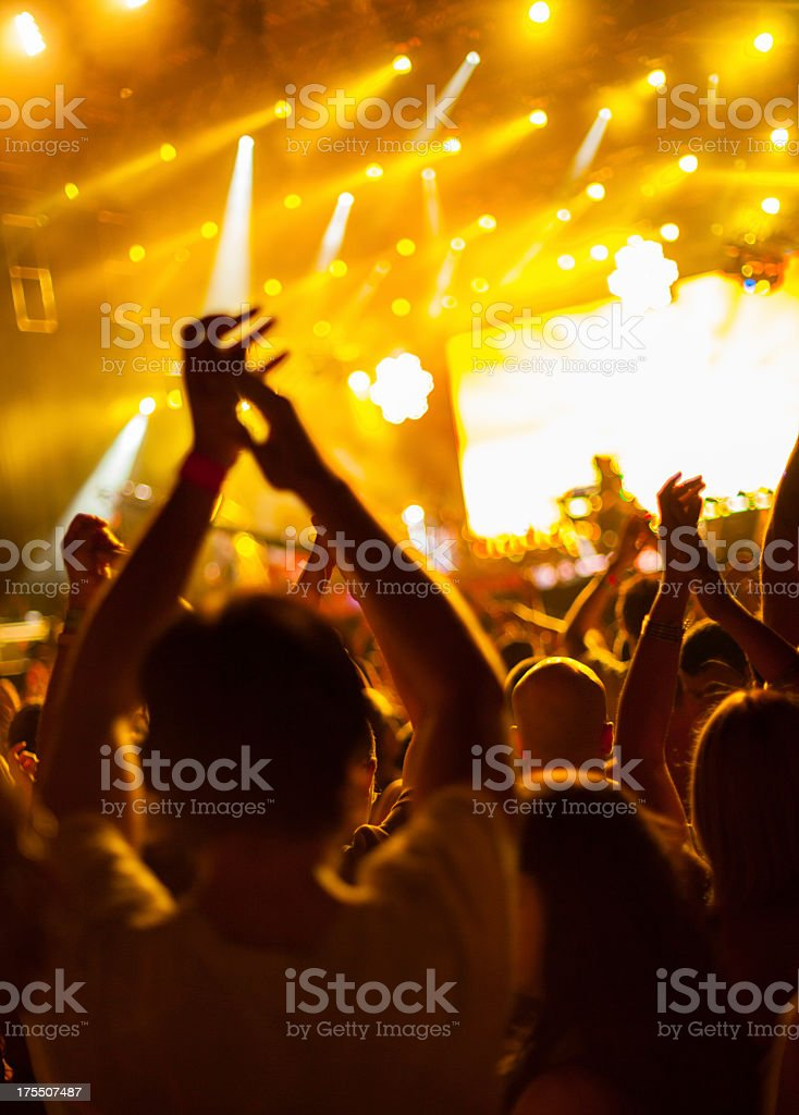 A party atmosphere in orange hue royalty-free stock photo