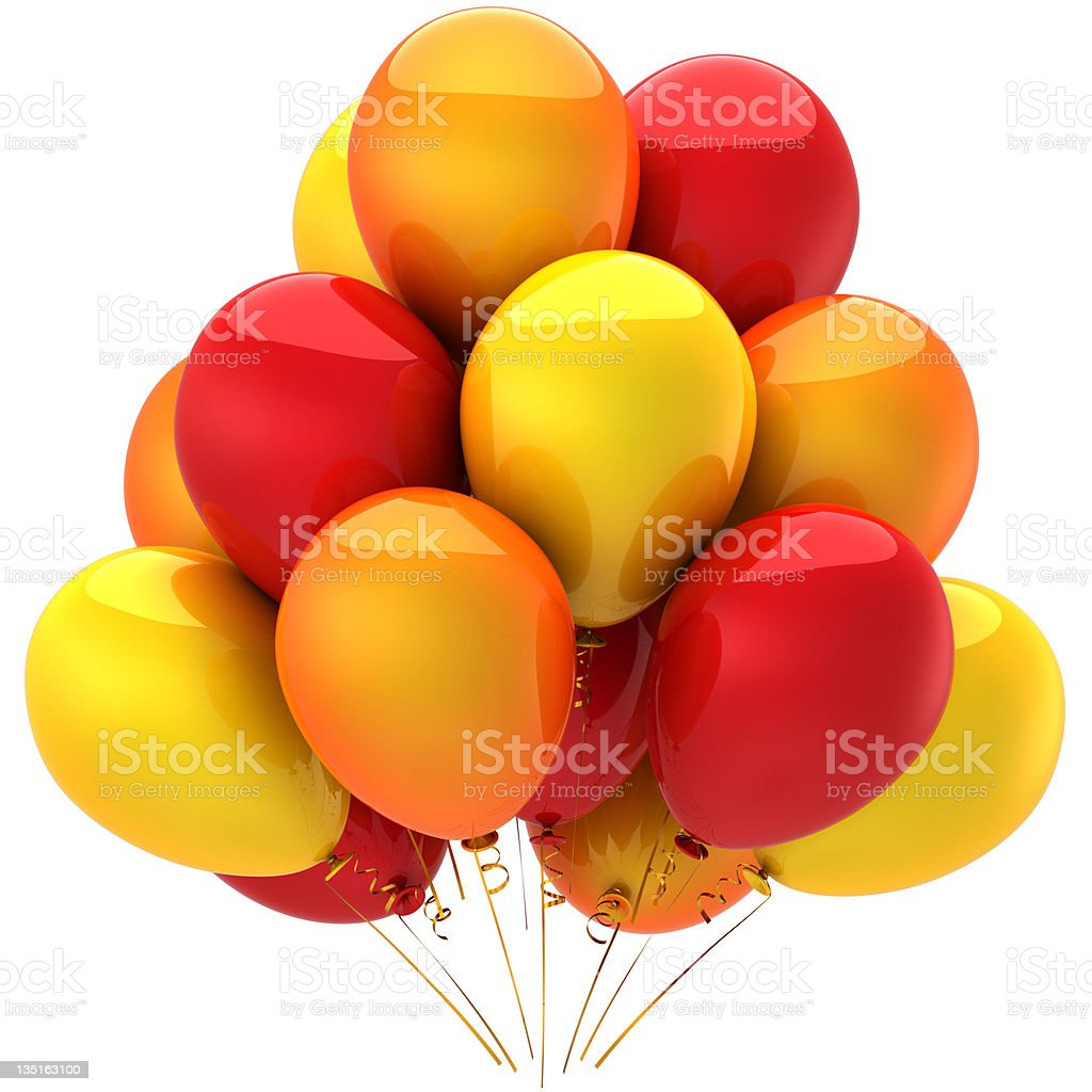 Party balloons colored hot summer emotions (Hi-Res) royalty-free stock photo