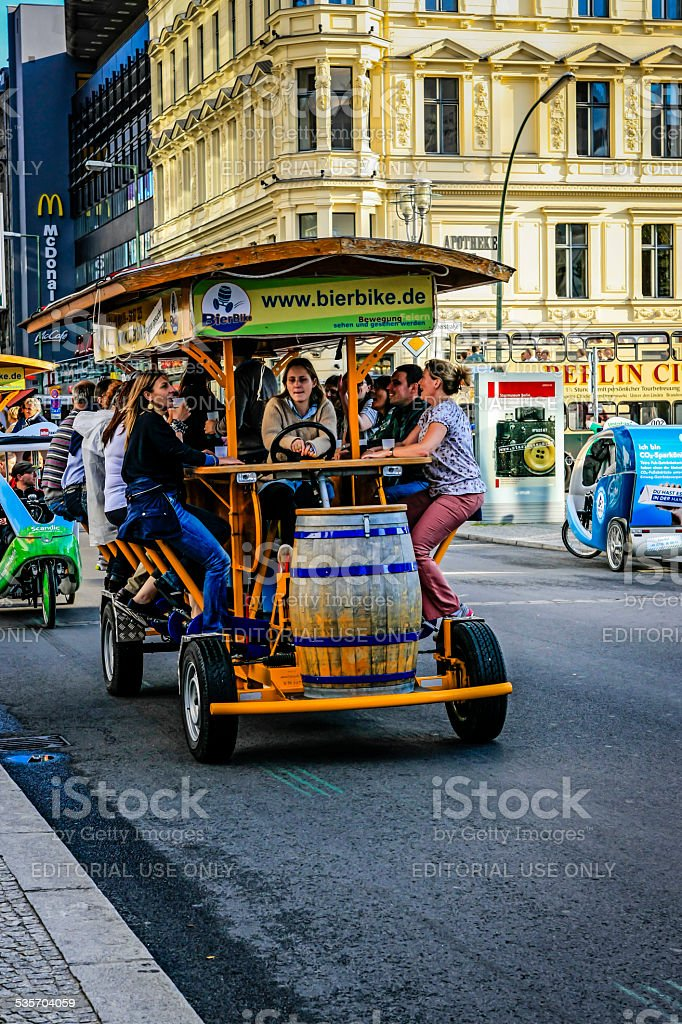 Party bike on the streets of Berlin stock photo