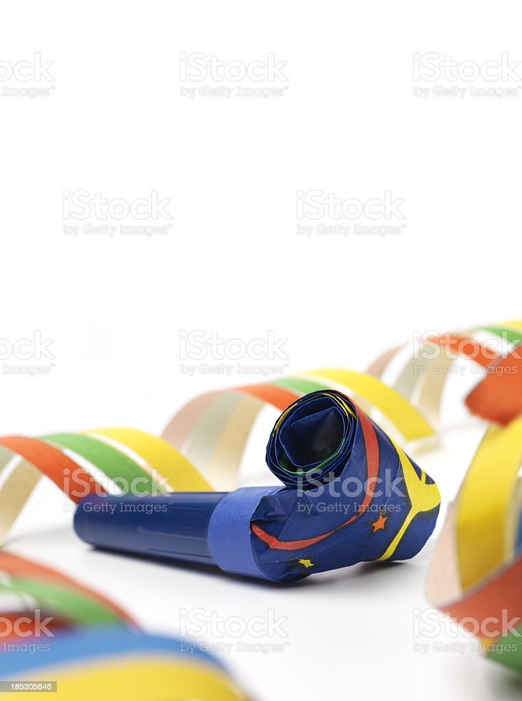 party blower and streamers royalty-free stock photo